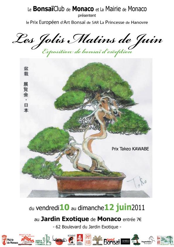 """BONSAI EXHIBITION IN MONACO """"les jolis matins de juin"""" 10 11 12 JUNE 2011 Affich10"""