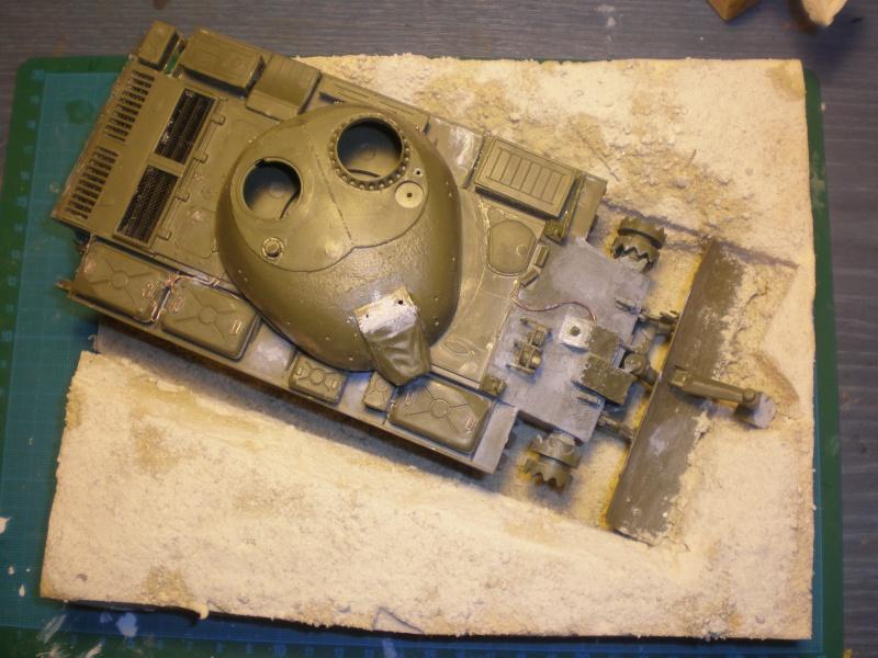 T55 Lame Dozer détaillage conduites d'essence finies Pa240416