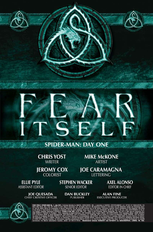 Fear Itself : Spider-Man #1 (of 3) Prv84945