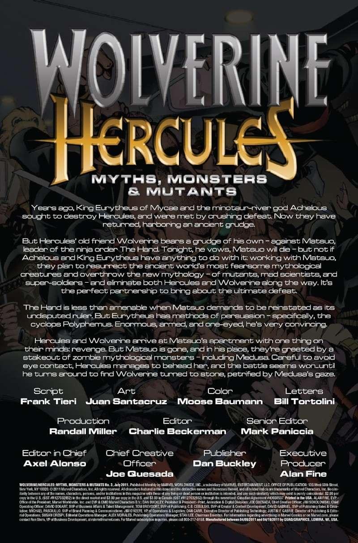 Wolverine/Hercules: Myths, Monsters & Mutants #3 (of 4) Prv85011