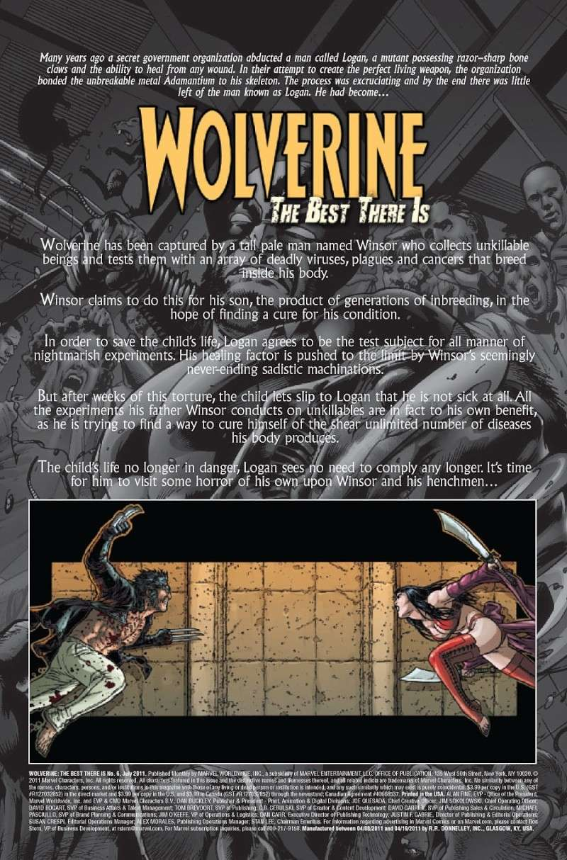 Wolverine: The Best There Is #5 Prv85016