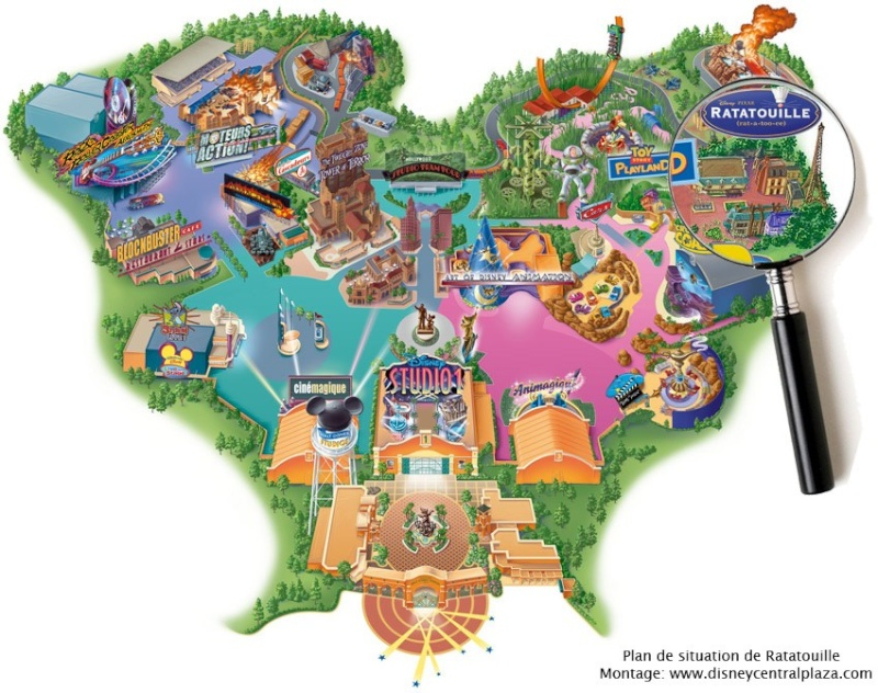 [Walt Disney Studios] Dark ride Ratatouille en 2012 Plan_r10