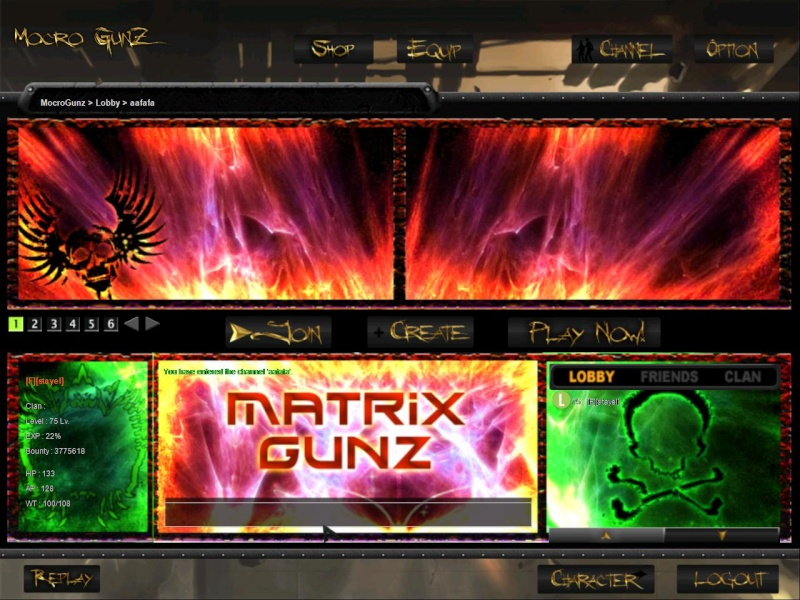 the pic of the full lobby Gunz0110