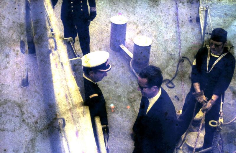 VISITE  de Sa Majesté le roi Baudouin à bord du ZINNIA ,1972 9-28-216