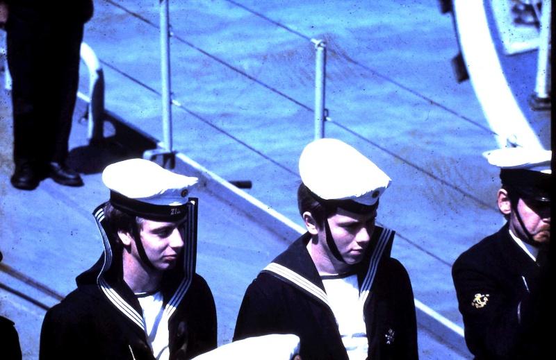 VISITE  de Sa Majesté le roi Baudouin à bord du ZINNIA ,1972 9-28-218