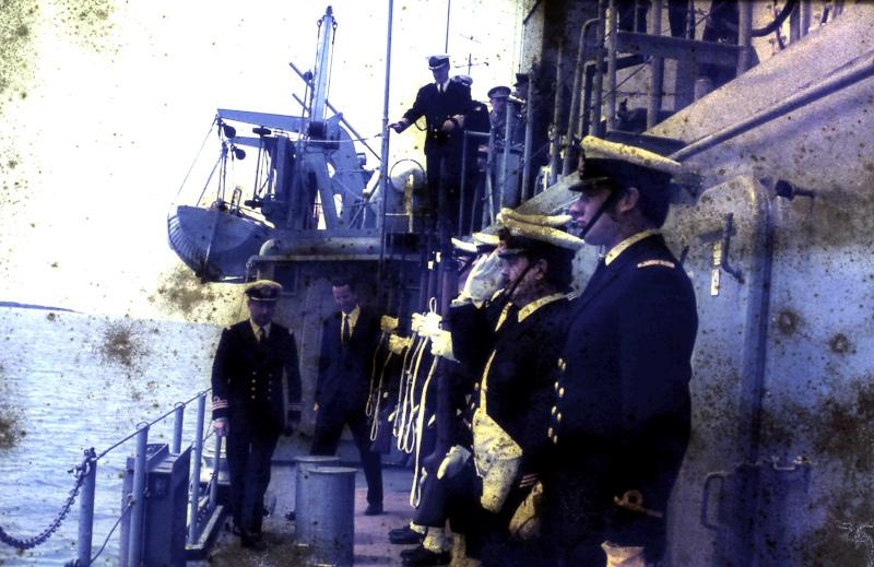 VISITE  de Sa Majesté le roi Baudouin à bord du ZINNIA ,1972 9-28-219