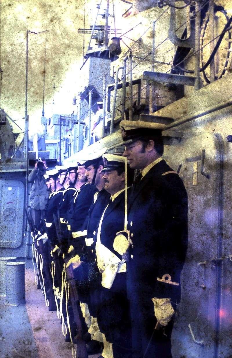 VISITE  de Sa Majesté le roi Baudouin à bord du ZINNIA ,1972 9-28-220