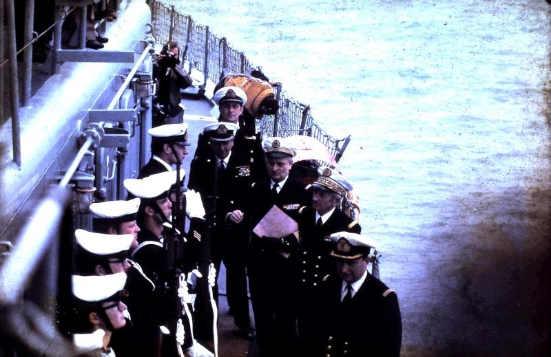 VISITE  de Sa Majesté le roi Baudouin à bord du ZINNIA ,1972 9-28-221