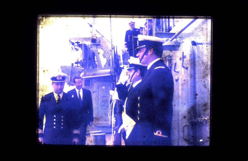 VISITE  de Sa Majesté le roi Baudouin à bord du ZINNIA ,1972 9-28-223