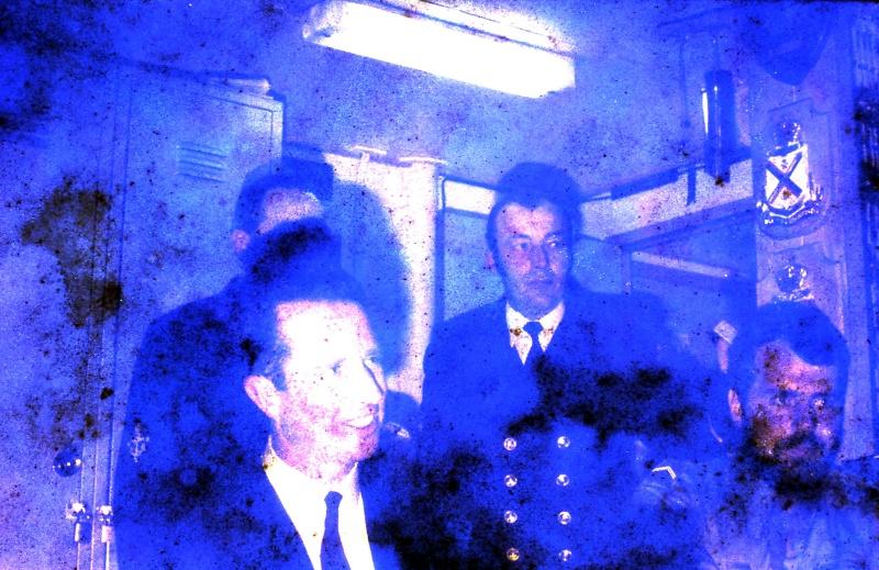 VISITE  de Sa Majesté le roi Baudouin à bord du ZINNIA ,1972 9-28-227