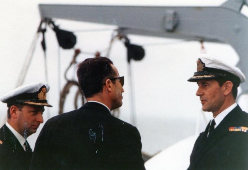 VISITE  de Sa Majesté le roi Baudouin à bord du ZINNIA ,1972 Img13710