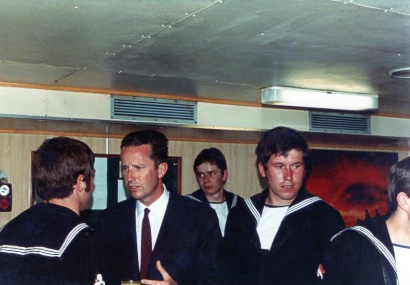 VISITE  de Sa Majesté le roi Baudouin à bord du ZINNIA ,1972 Img14010