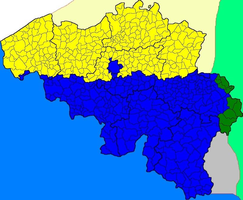 Cartes de scénarios en cas de scission de la Belgique. Belgiq11