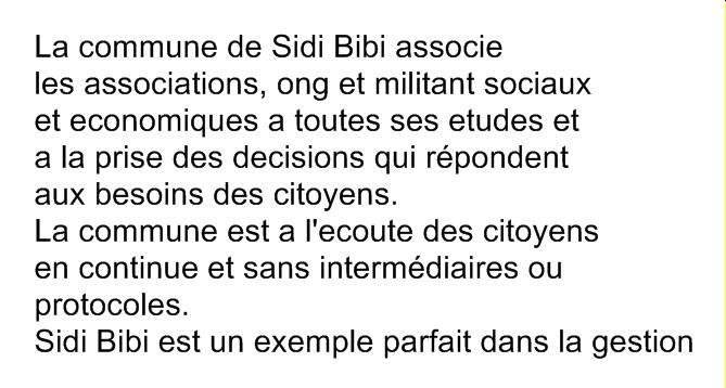 La commune de Sidi Bibi , source de cohesion et de concertation Sbibic11