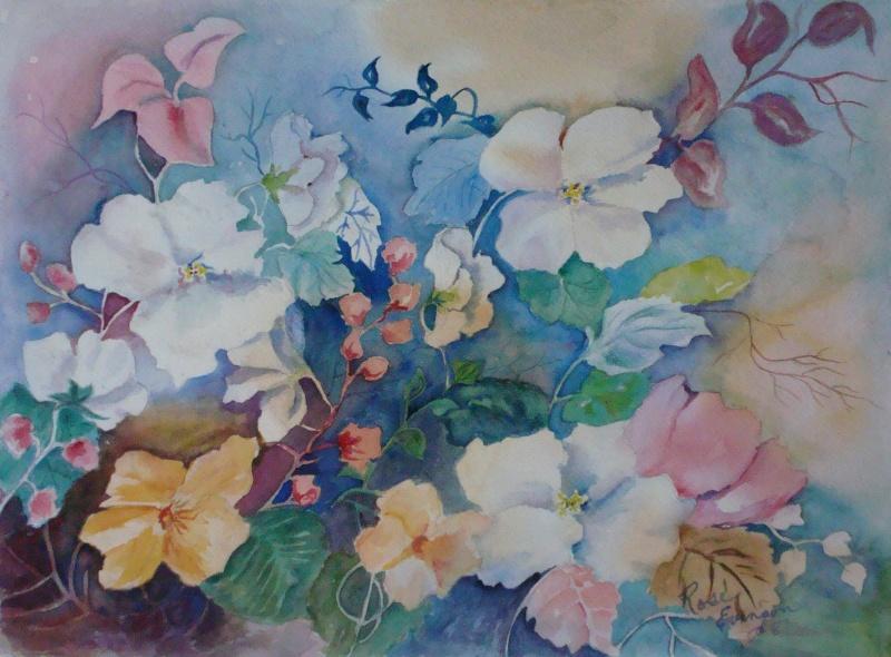 Les FLEURS  dans  L'ART - Page 2 Evenso10
