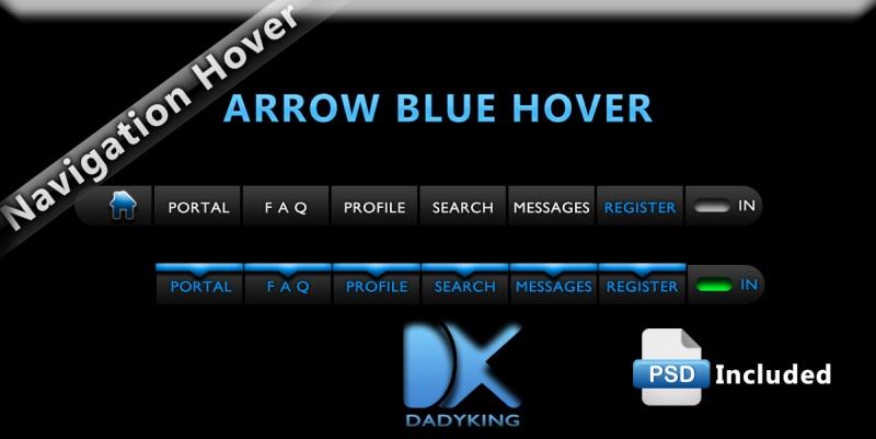 Blue arrow hover : navigation hover bar Blue_a10