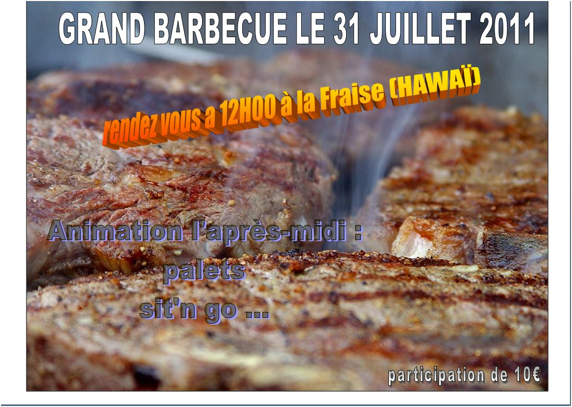 Barbecue organisé pour le club Barbeu10