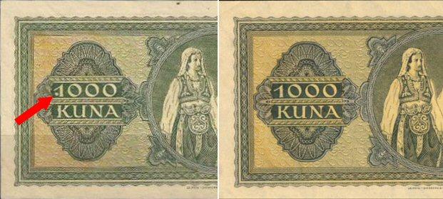 1000 kuna 1.9.1943. - greška 1000-k10