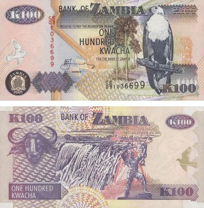 Zambija 100 kwacha 2006 UNC 100kwa10