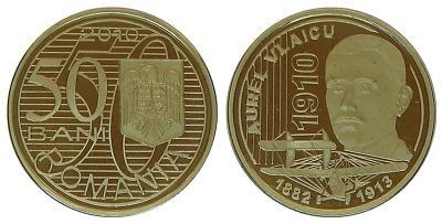 Rumunjska 50 bani 2010 - zrakoplovstvo UNC 50-ban11