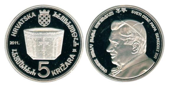 "Suvenir kovanica ""Papa Benedikt XVI"" u izdanju Numizmatičkog društva ""Castua"" Papa_511"