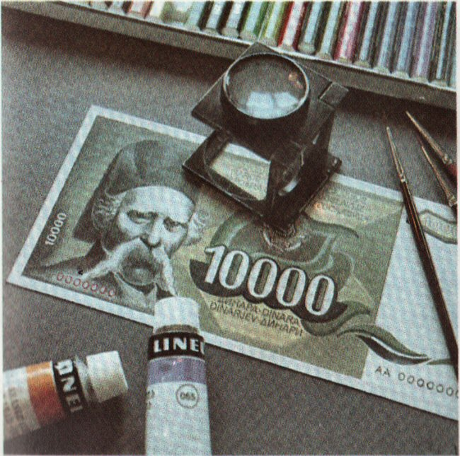 10.000 dinara 1987. Vuk-k-10
