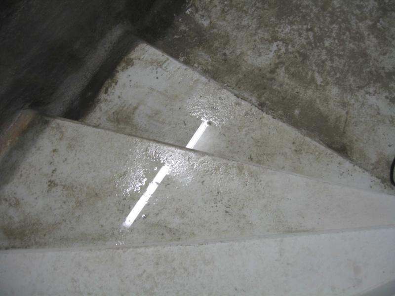 eau dans les parkings Escall12