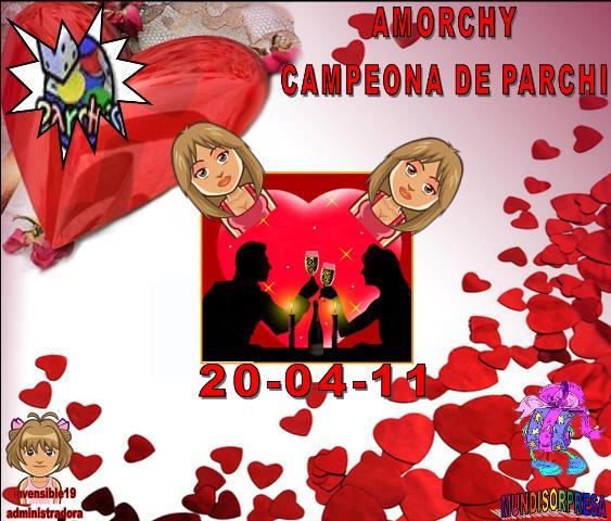 FELICITACIONES AMORCHY CAMPEONA Y CARLOTTE SUB-CAMPEONA DE PARCHI IND. 20-04-11 Trofeo42