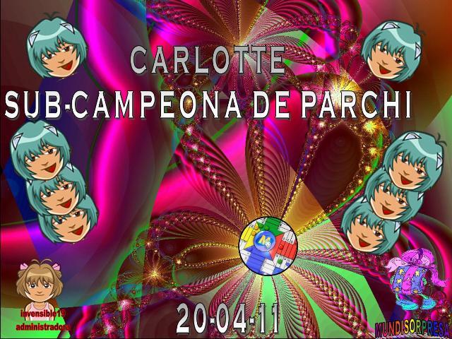 FELICITACIONES AMORCHY CAMPEONA Y CARLOTTE SUB-CAMPEONA DE PARCHI IND. 20-04-11 Trofeo43