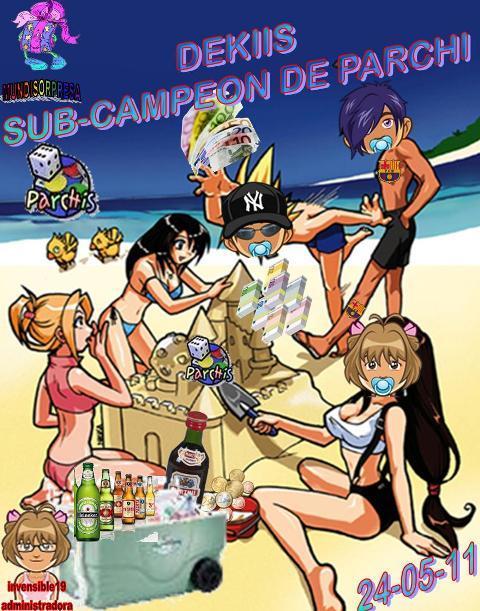 FELICITACIONES A CHAPATITA CAMPEONA Y DEKIIS SUB-CAMPEONADE PARCHI IND. 24-05-11 Trofeo75