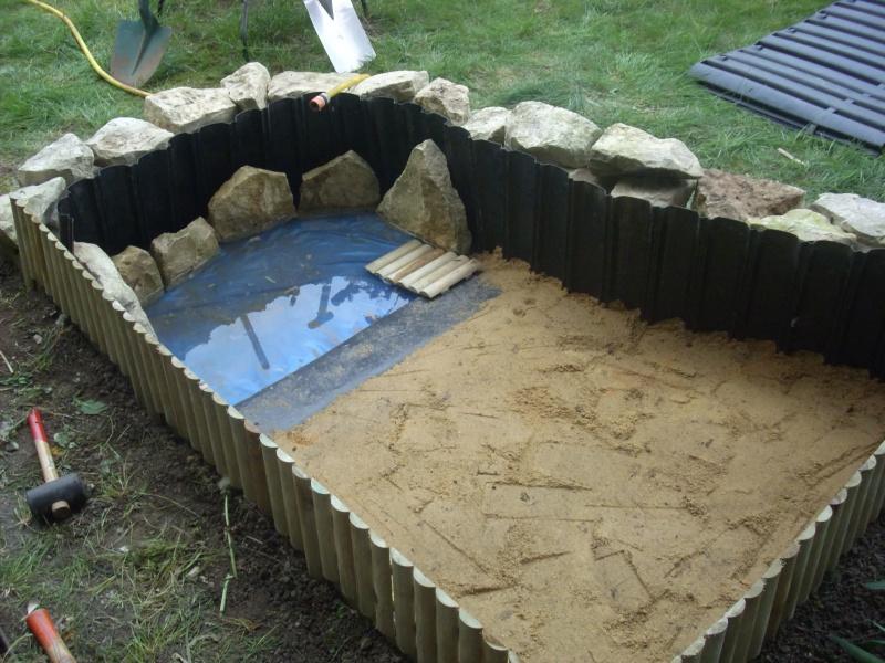 Enclos bassin pour les pelomedusa subruta - Bassin tortue floride strasbourg ...