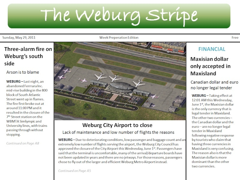 The Weburg Stripe, Maxisland's Most Read Newspaper Weburg13