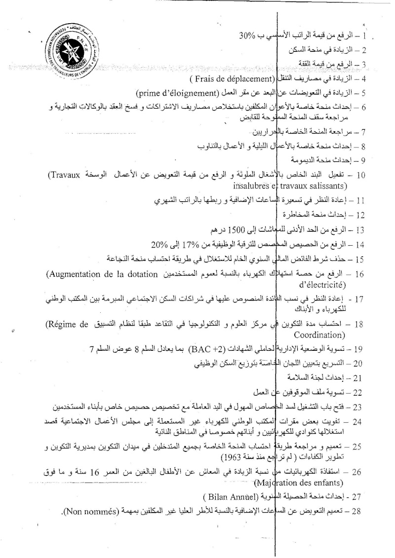 البلاغ  2 للتنسيقية الوطنية لحاملي الشواهد  Federa12