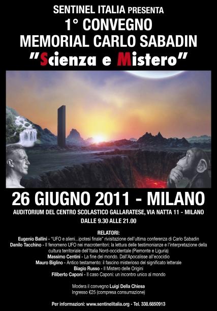 """1° Convegno Memorial Carlo Sabadin """"Scienza e Mistero"""" Locand12"""