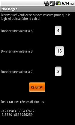 [SOFT] 2nd DEGRE: calculer delta/rho d'une équation 2nd degré 410
