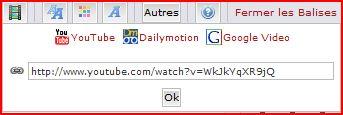 comment poster une vidéo sur le forum (youtube, dailymotion ou google) Vidao211