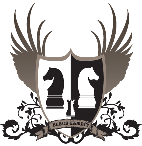 The Black Gambit (Coat of Arms) Chess-10