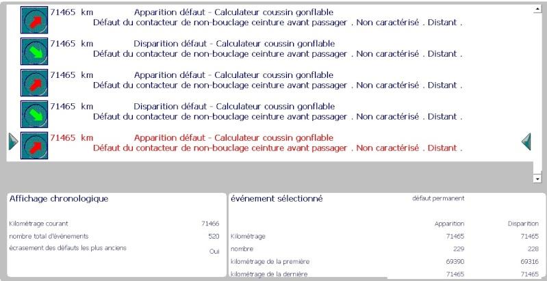 """207 - Investiguer la panne """"Airbag(s) ou ceinture(s) à prétensionneur(s) défaillant(s)"""" Ceintu11"""