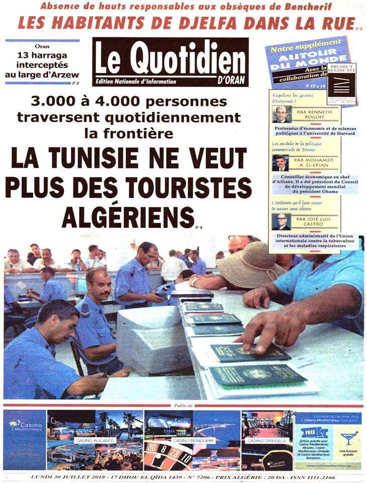La Tunisie ne veut plus des touristes Algériens 10143