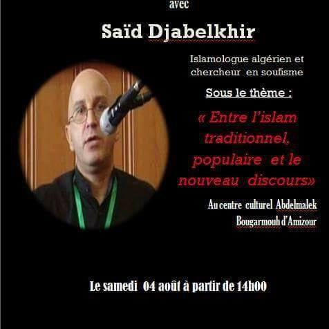 qu'en est-il de cette relation d'amour entre l'islamologue Said Djabelkhir et Béjaia?  10150
