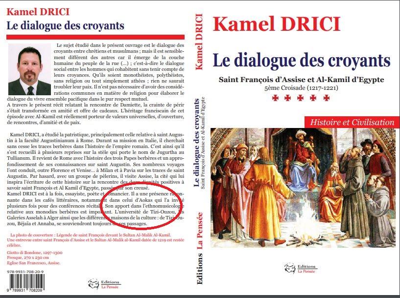 « Le dialogue des croyants » troisième livre de Kamel Drici 1147