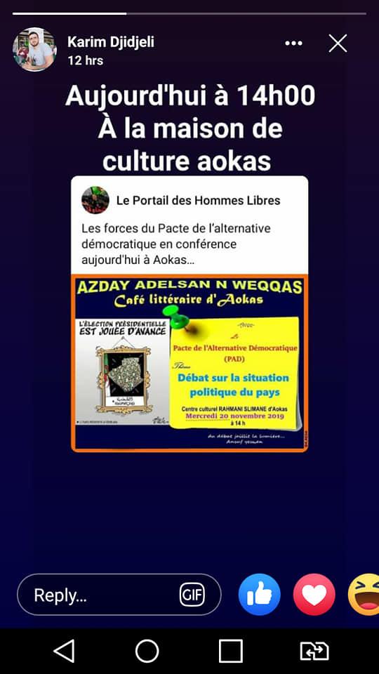 conférence du Pacte de l'alternative Démocratique à Aokas le mercredi 20 novembre 2019  - Page 2 1176