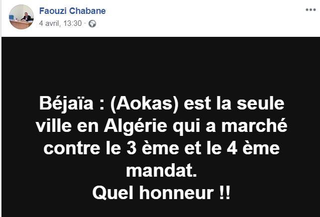 Aokas est la seule ville en Algérie qui a marché contre le 3 ème et le 4 ème mandat. 179