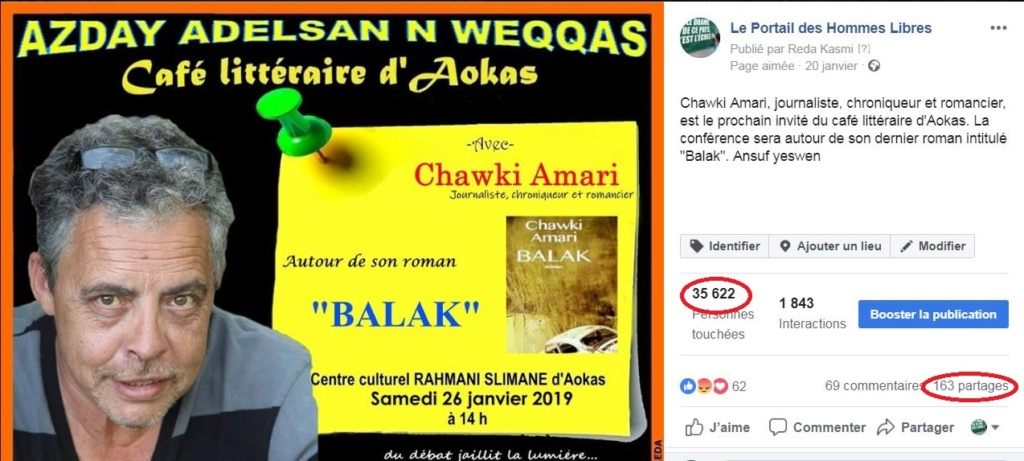 Chawki Amari à Aokas le samedi 26 janvier 2019 Captur13
