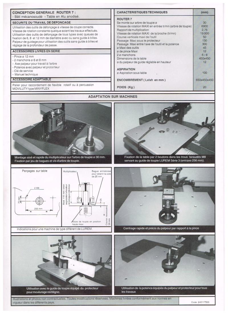 Essai d'utilisation de la toupie du combiné en defonceuse sous table Routeu11