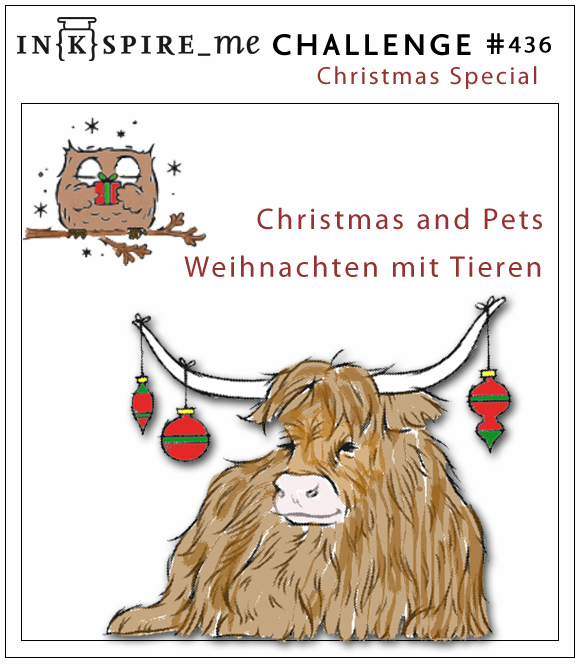 IN{K}SPIRE_me Christmas Challenge #436 - Christmas and Pets