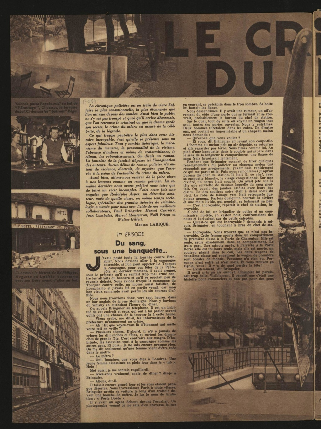 Laëtitia Toureaux - Le Crime du Métro, 16 mai 1937 _114