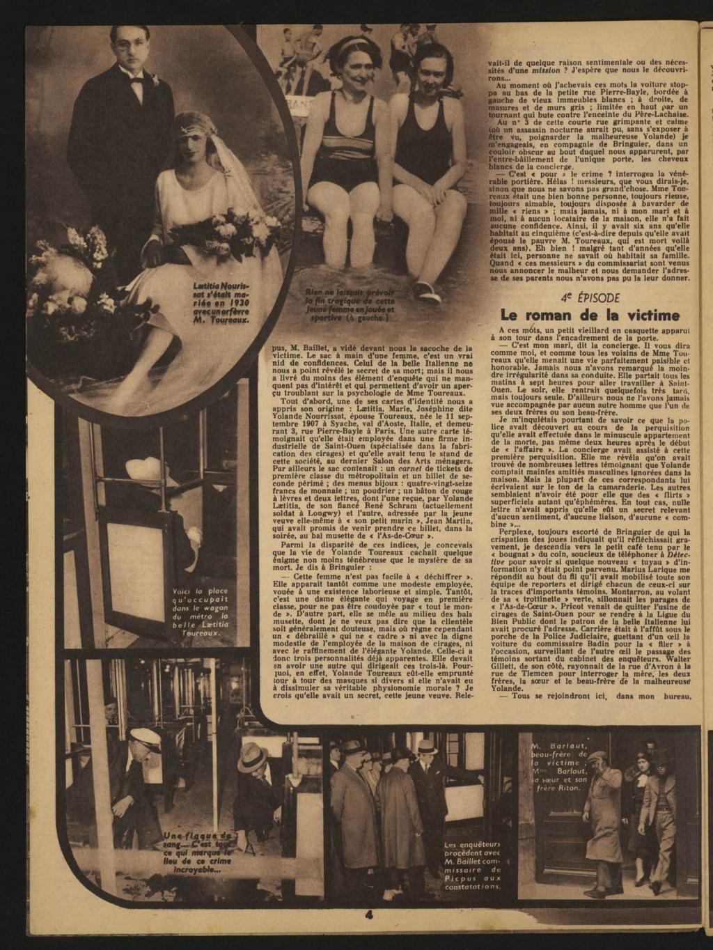 Laëtitia Toureaux - Le Crime du Métro, 16 mai 1937 _311