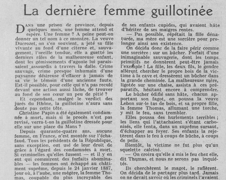 Ces femmes qu'on guillotina - Page 5 Femme10