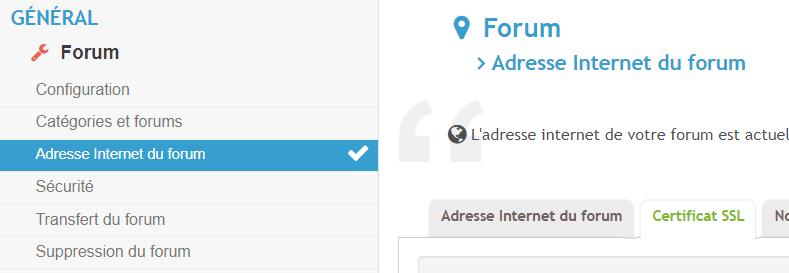 Pas de menu pour installer le certificat SSL Http10